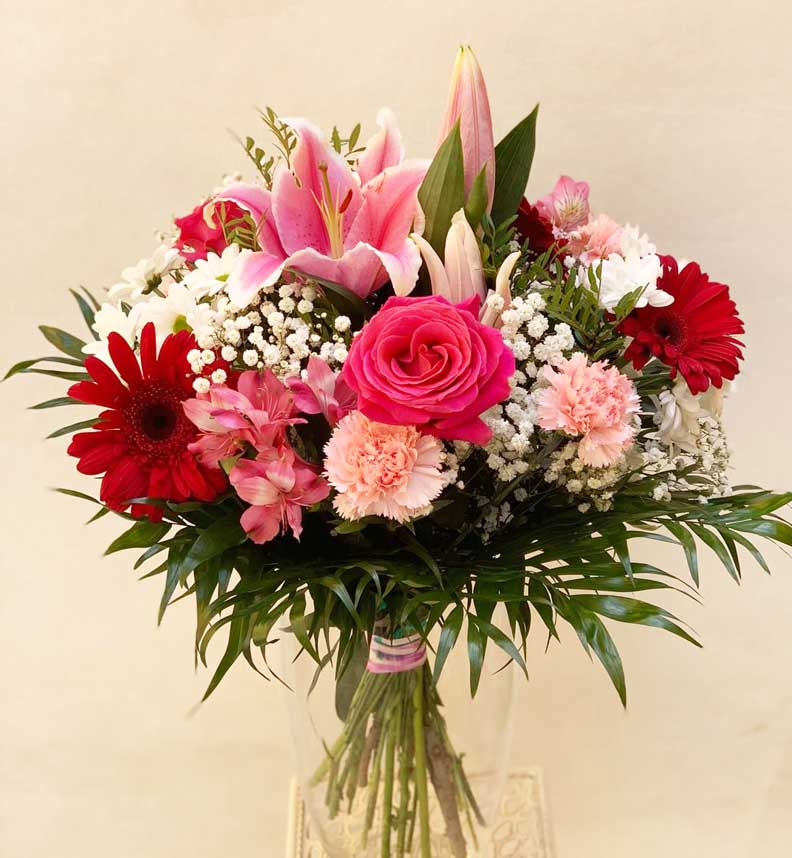 Ramo de Flores en tonos rosados