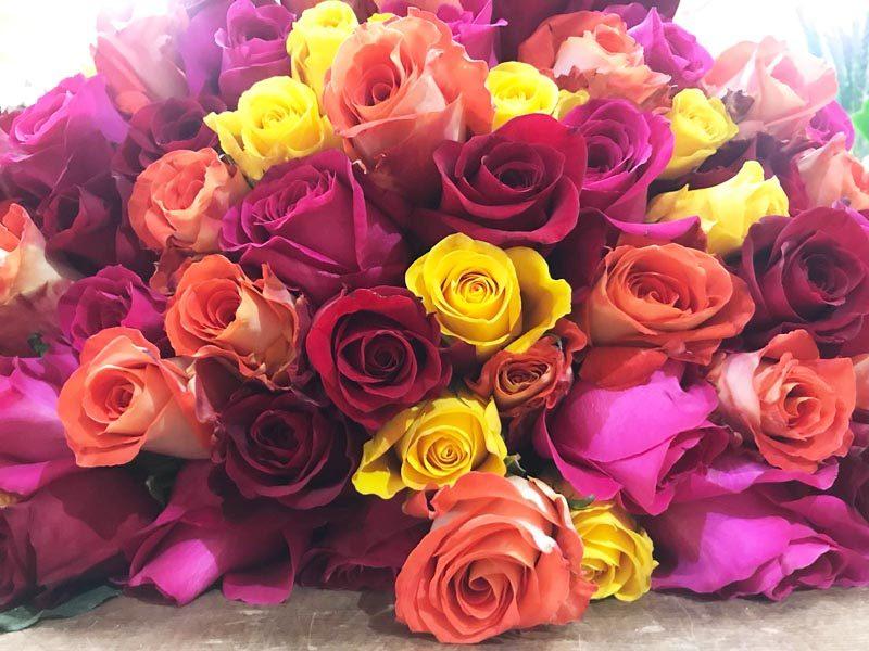 Ramo 50 rosas mixtas 125€